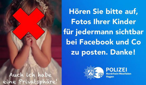 Police warn parents to never post child photos