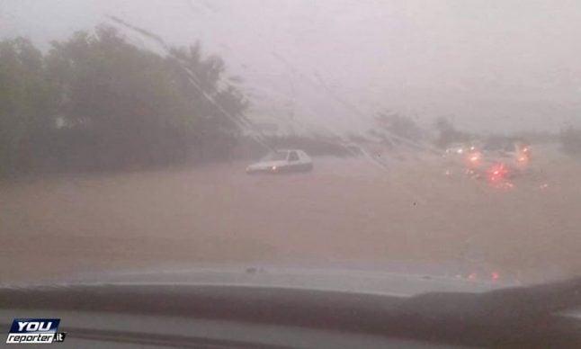 Sardinia on red alert as cyclone hits
