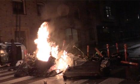 Police, Christiania trade blame over violent demo