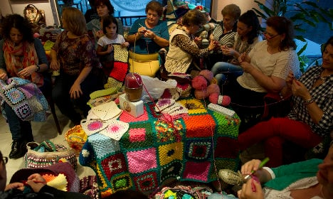 Spanish women knit blankets of love for Syria's displaced thousands