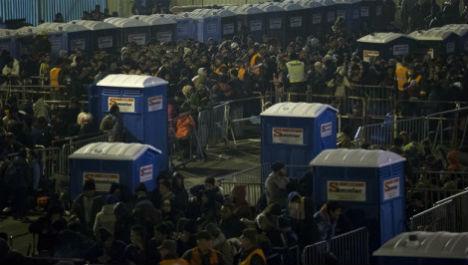 4,000 refugees spend night in Spielfeld