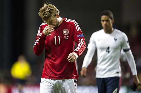 Denmark's Euro 2016 hopes dealt major blow