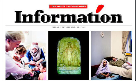 Danish newspaper written by refugees