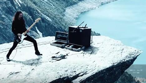 Norway black jazz band in Trolltunga rock video