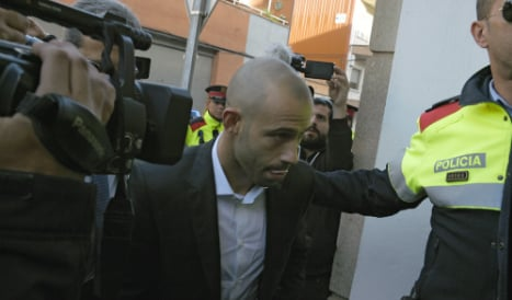 FC Barcelona's Javier Mascherano admits to two counts of tax fraud
