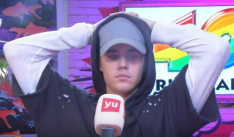 Justin Bieber walks out of painfully awkward live interview in Madrid