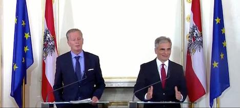Austrian leader says fences 'have no place'
