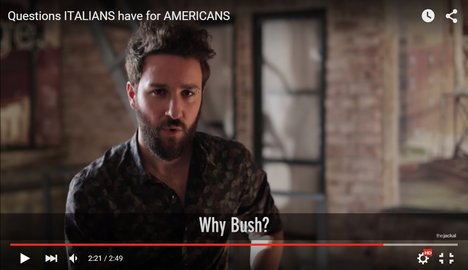 Italians probe American habits in hilarious video