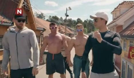 Norway bodybuilder skit goes inexplicably viral