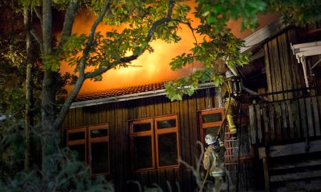 Three Swedish refugee centres hit by fires