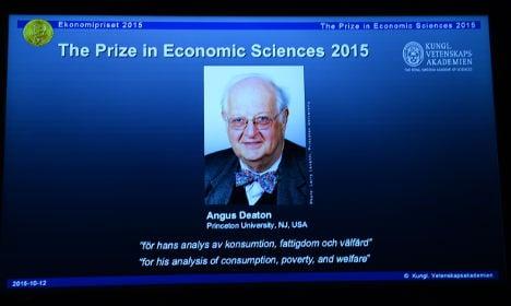 Who is the 2015 Nobel winner in economics?