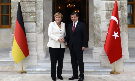 Germany's Merkel in Turkey for refugee talks