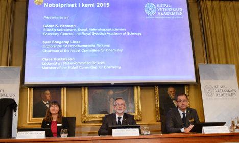 BLOG: Sweden's Nobel Prize in Chemistry 2015
