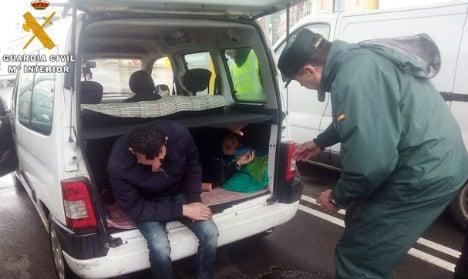 Spanish police find Albanian man hidden in car boarding ferry to UK