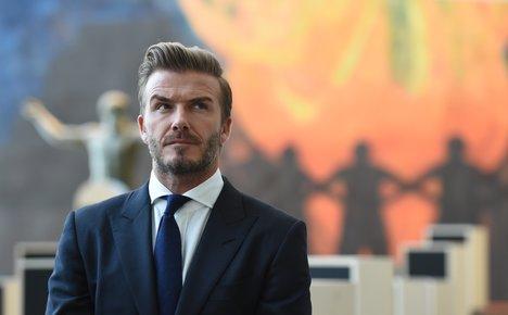 David Beckham mocked over AC Milan gaffe