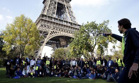 After escaping war, refugees enjoy Paris