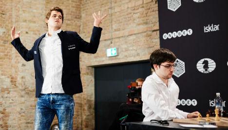 Carlsen yells swear word in rage at chess loss