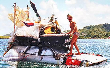 Madcap explorer sails car around Italy