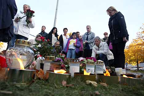 Swedish town mourns school sword attack