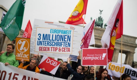 50,000 expected at Berlin anti-TTIP demo