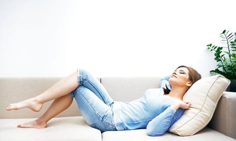Women should lounge on sofa after work: study