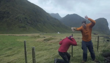 A couple's windy adventures on Lofoten
