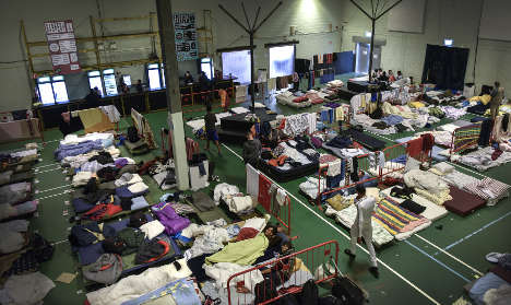 Refugee centres packed as cold winter calls