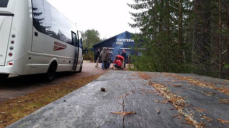 Refugees in forest bus protest face eviction