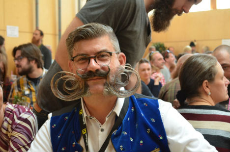 Backstage at the world's biggest 'facial hair party'