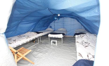 Sweden faces huge shortfall in refugee tents