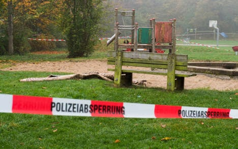 Woman bursts into flames in German park