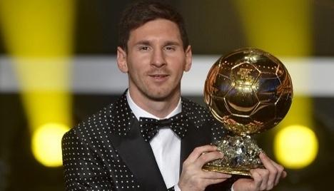 Favoured Messi on short list for best footballer