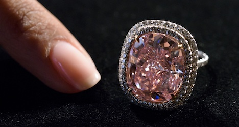 Pink diamond sets record at Geneva auction