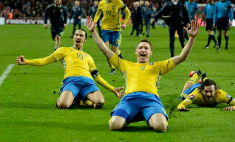 Swedes cheer double fire into France's Euro 2016