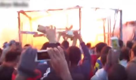 VIDEO: Explosion at Calais refugee camp