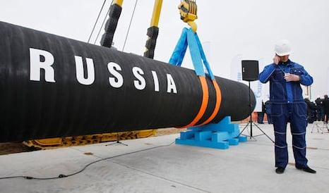 Explosive sub found near Russian gas pipeline