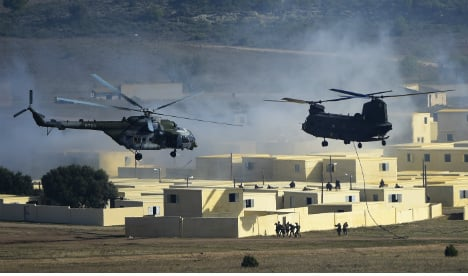 Black Hawk Down Zaragoza? Nato exercise turns city into 'warzone'