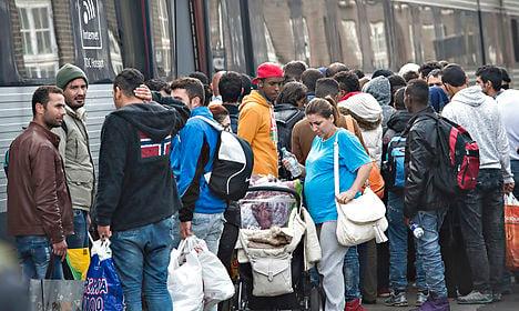 October set Denmark's all-time refugee record