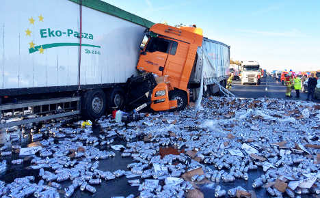 Spilled beer shuts down Hanover motorway