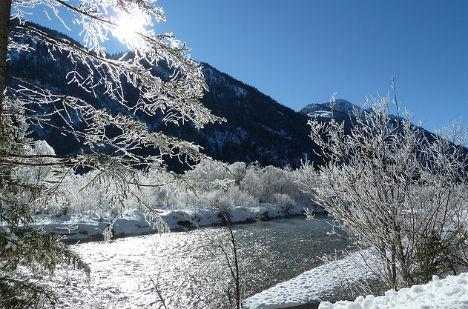 Winter finally arrives in Austria