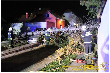 Gales leave trail of damage across Austria