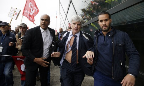 Air France sacks four over violent protests