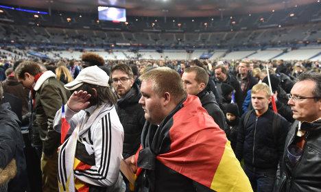 German team spent night in stadium after attacks
