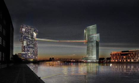 Copenhagen's 65m-high cycle bridge off limits