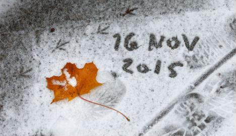 It's snowing! Winter arrives late in Oslo