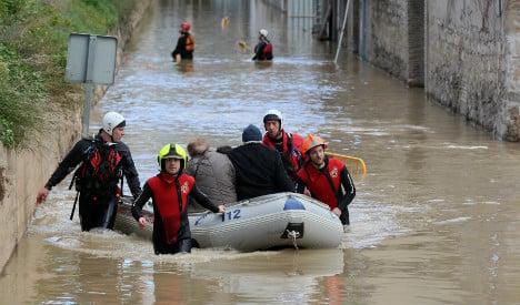 Four drown as flash floods sweep through Spanish retirement home