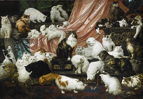 Could this be the biggest cat painting in the world?
