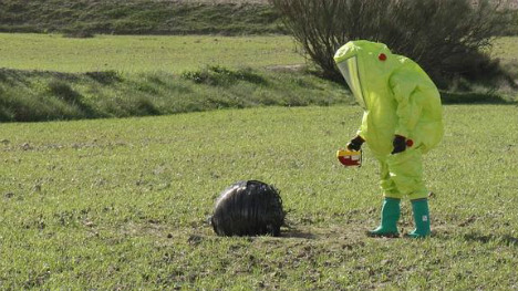 Spanish shepherds stumble across mysterious object from outer space