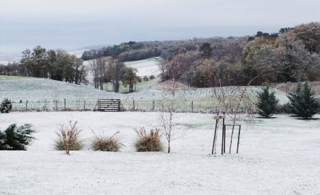 Dordogne hit by first snow of the winter