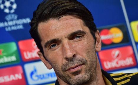 Buffon celebrates 20 years in Serie A